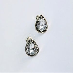 Kate Stylist Jewelry - New! Vintage Crystal Teardrop Textured Earrings